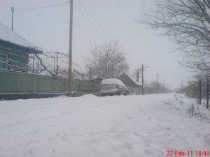 zăpadă pe stradă